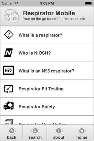 Respirator Mobile screenshot 1