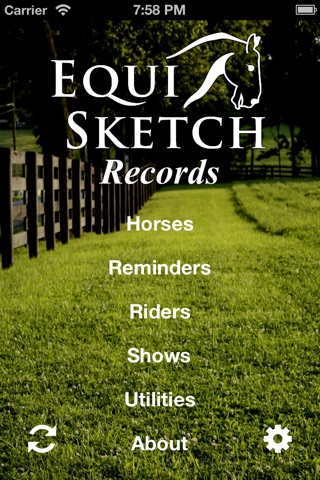 EquiSketch Records - The Stable, Rider and Show Record Keeper for Horse Lovers screenshot 1