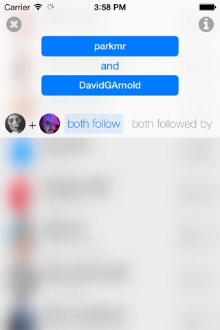inCommon for Twitter screenshot 2