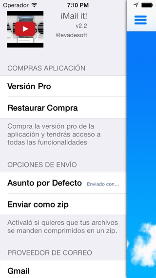 Captura de pantalla del iPhone 2
