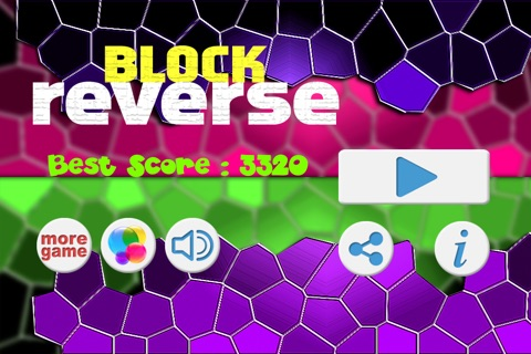 Block Reverse - Geometry Reverse Dash - Don't touch the Spikes Block screenshot 3