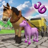 Pony Horse Carriage Kids Transport Simulator