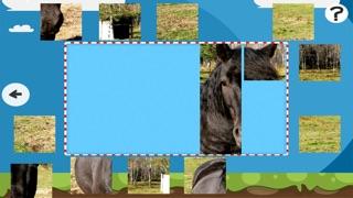 Puzzle Avec des Chevaux et Poneys - Jeu Interactif Gratuit Pour Les Enfants Apprendre la PenséeCapture d'écran de 3