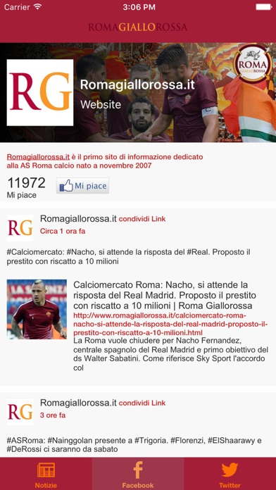 Screenshot of Romagiallorossa.it News3