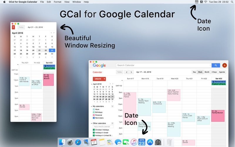 Gcal For Google Calendar App For Macs Download For Macos From