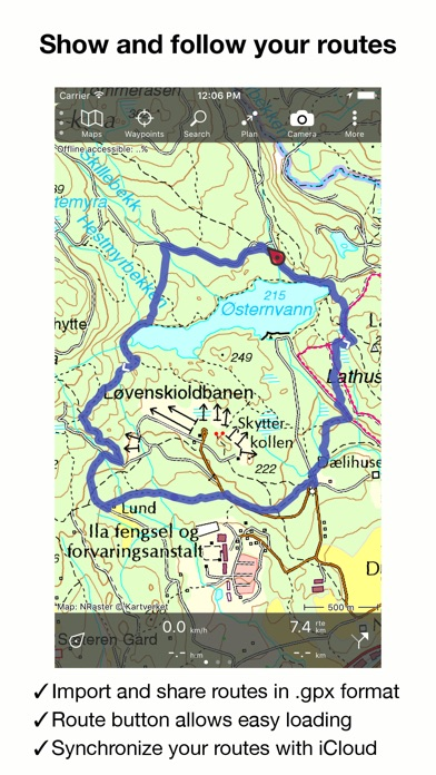 Topo GPS Norway On The App Store - Norway topographic map