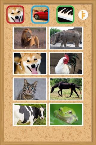 鳴き声タッチ-動物・乗り物・楽器の写真と音 screenshot 2