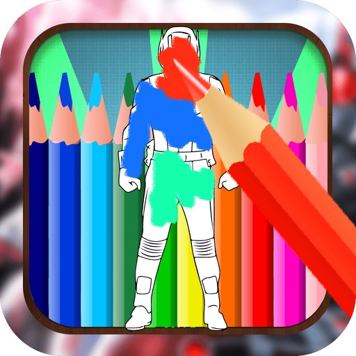 Color Book Game for Kids: Antman Version iOS App