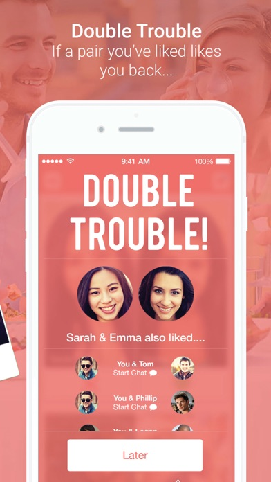 double trouble dating app Doubletwist, free and safe download doubletwist latest version: sync photos, video and music between your pc and portable devices if, like me, you have different mobile devices (media player, mobile phone) where you can store p.