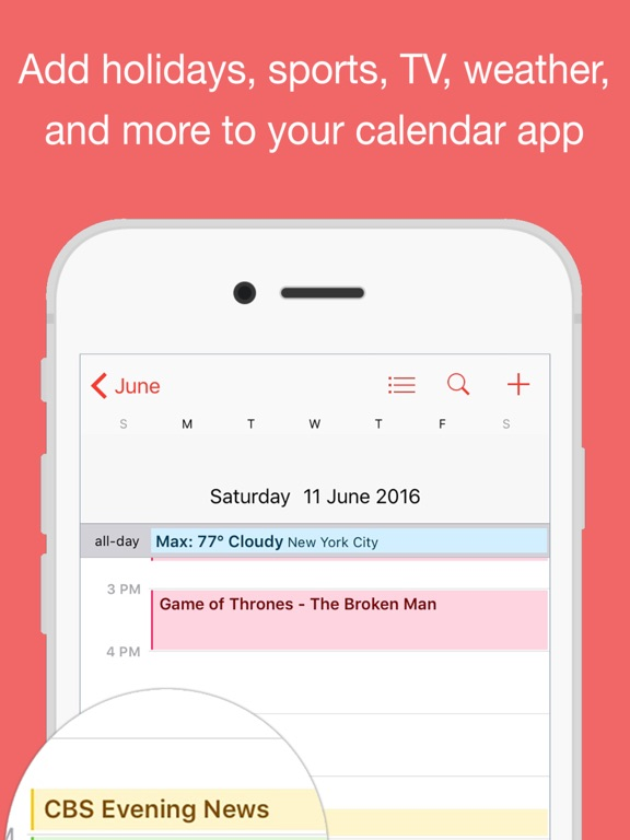 Calendars for sports and holidays schedjoules on the app store ipad screenshot 1 sciox Gallery