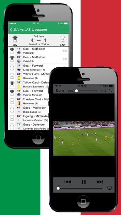 Screenshot of Calcio italiano 2011-2012 piedi Video di obiettivi Formazioni capocannonieri Squadre informazioni3
