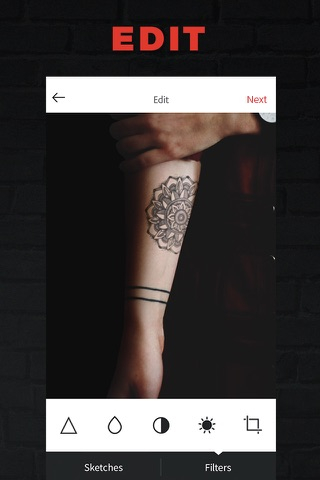 INKHUNTER try tattoo designs in augmented reality screenshot 3