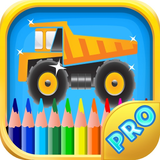 Coloring book of truck for children - Cars, Trucks and other vehicles iOS App