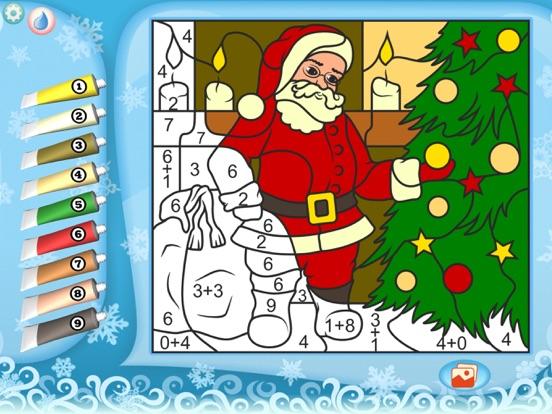 Раскрась по номерам – Рождество - Бесплатно для iPad