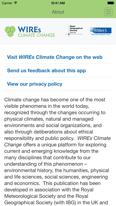 Wires Climate Change review screenshots