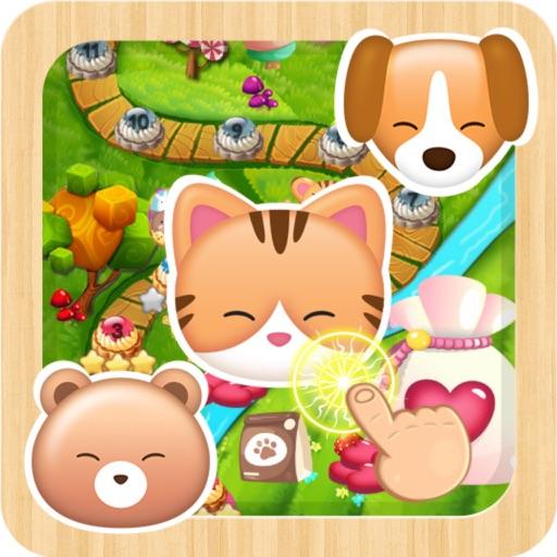 Animals sugar jelly cupcake splash match mania iOS App