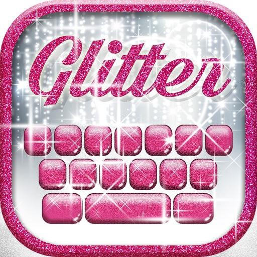 Glitter Keyboard Themes – Shiny Custom Keyboard Design with Glowing Backgrounds and new Emoji.s iOS App