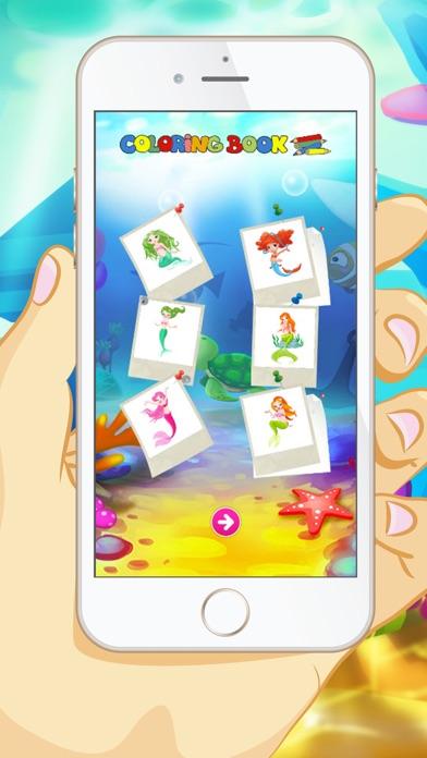マーメイドぬりえ - 子供と幼児のための教育のぬりえゲームのスクリーンショット4