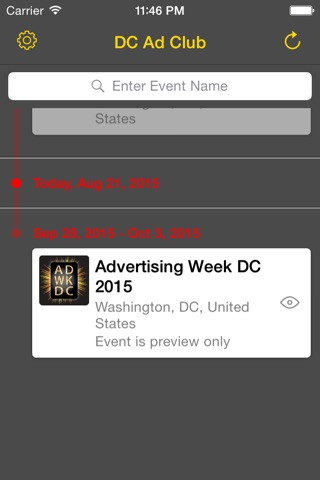 Screenshot of DC Ad Club Ad Week