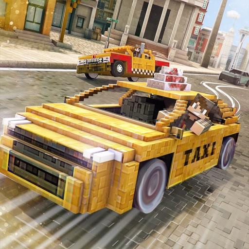 Taxi Simulator 2016 | Blocky City Car Driver Game For Free iOS App