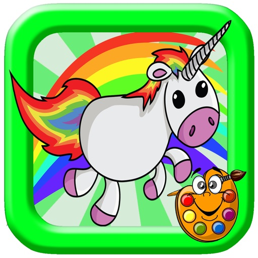 Baby Little Unicorn Coloring Pages Game iOS App