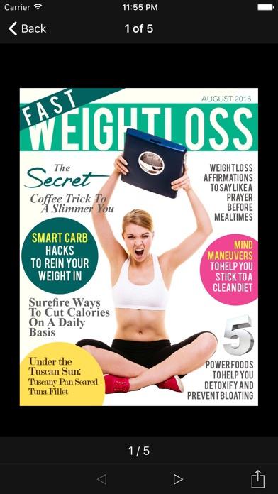 Fast Weight Loss Magazine review screenshots