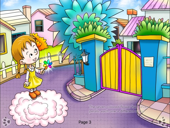 Seven Colored Flower Bedtime Fairy Tale iBigToy Скриншоты7