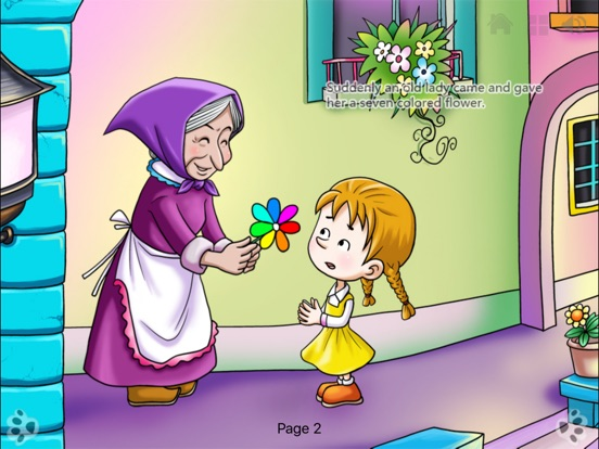 Seven Colored Flower Bedtime Fairy Tale iBigToy Скриншоты11
