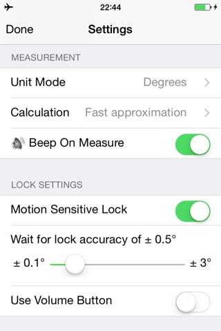 Bubble level and Clinometer screenshot 4