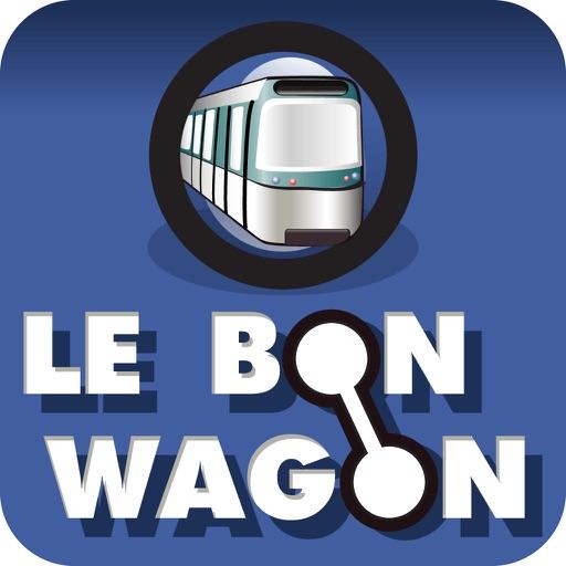 Le Bon Wagon - Métro, RER, Tramway, Itinéraires et plans de Paris
