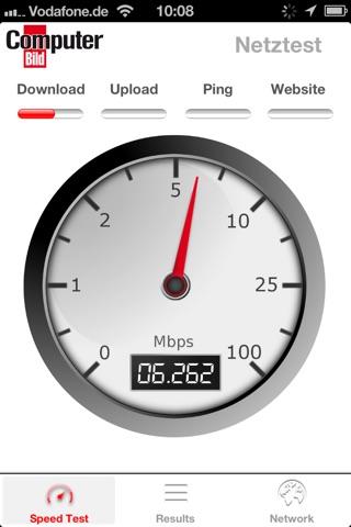 COMPUTER BILD Netztest screenshot 1