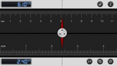 Screenshot #1 pour Ruler 2: mm Measuring Tape