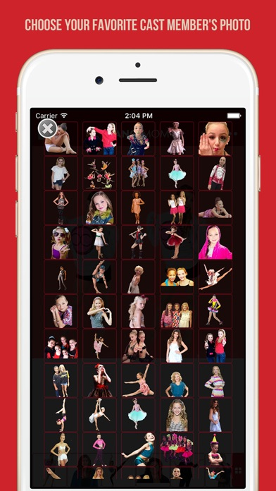 Screenshots of Add your photo with your favorite cast member - Dance Moms edition for iPhone