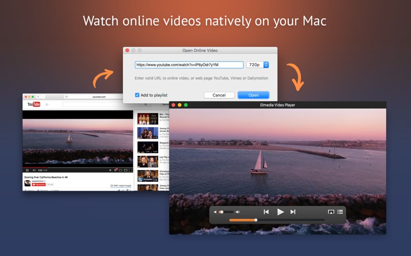 Screenshot #2 for Elmedia Video Player