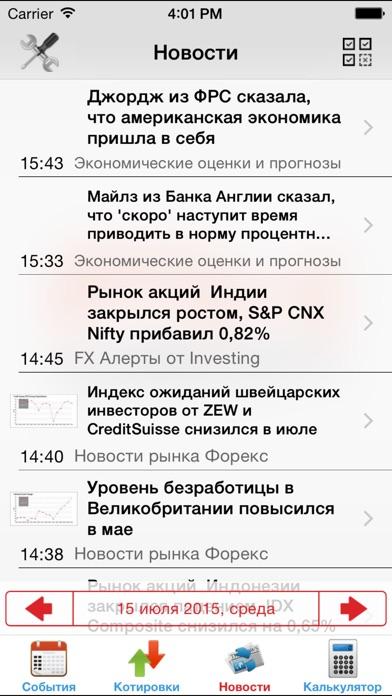 Экономический календарь Forex FxTeamСкриншоты 4