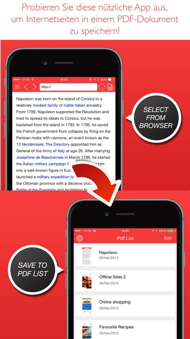 PDF Converter ( konvertieren Sie die Websites in ) Screenshot