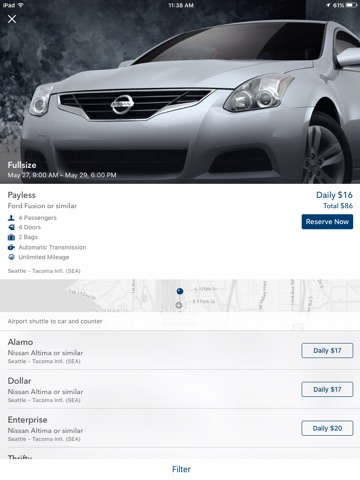 Travelocity Flight, Hotel, Car screenshot 4