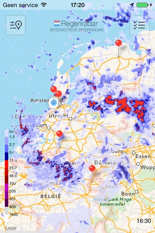 Regen Radar NL screenshot 1