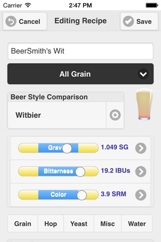 BeerSmith Mobile Home Brewing screenshot 2