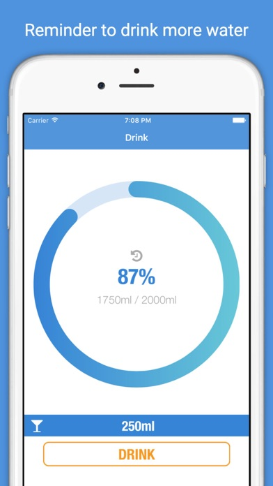 AquaUp - Drinking water consumption monitor & counter, dehydration reminderScreenshot of 1