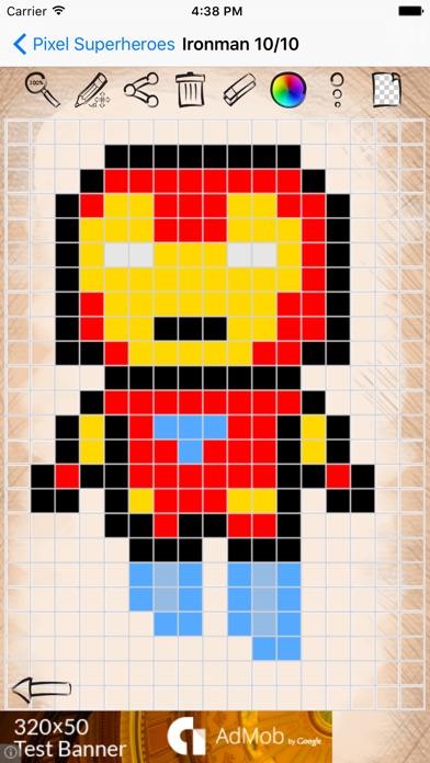 Dessin en pixel art br96 jornalagora - Dessiner un super heros facile ...