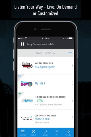 SiriusXM Radio screenshot 1