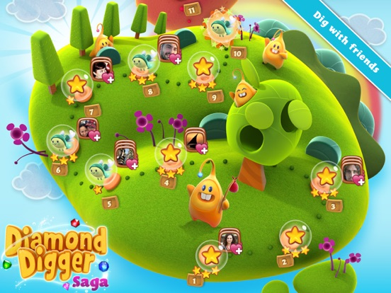 Screenshots of Diamond Digger Saga for iPad