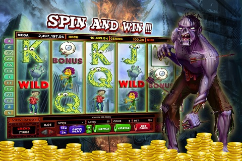 Zombies Slot Frenzy Machines: Undead Scary Casino screenshot 1