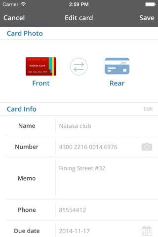 Card Mate Pro- credit cards screenshot 3