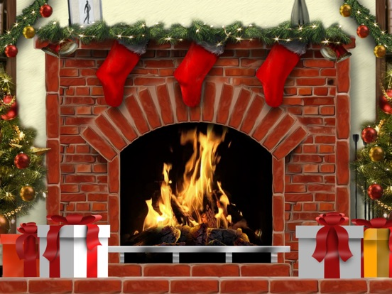 Amazing Christmas Fireplaces On The App Store - Pictures of christmas fireplaces