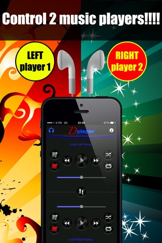 Double Player for Music with Headphones Pro screenshot 2