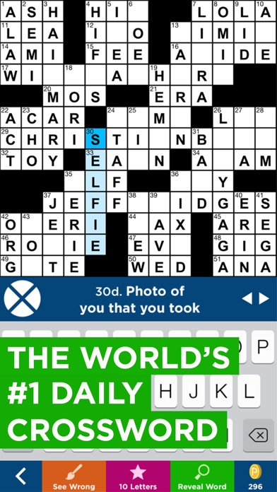 Daily Celebrity Crossword - Free Online Game for iPad ...