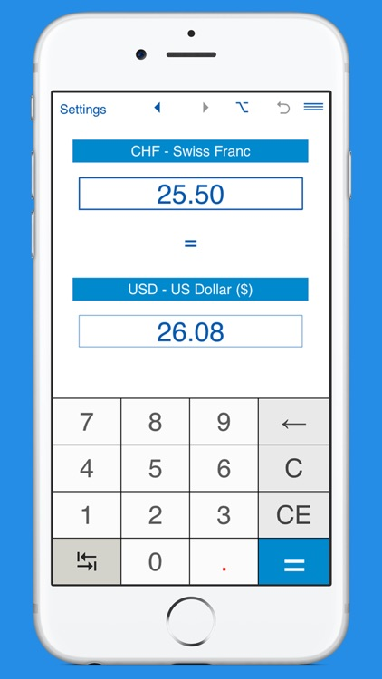 US Dollars to Swiss Francs currency converter by Intemodino Group s r o