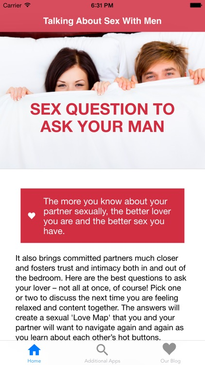 Good sex questions to ask a guy